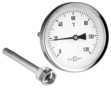 Pressure gauges with Bourdon tube standard version - TB14