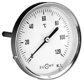 Thermometers with Bimetal coil - Industry version