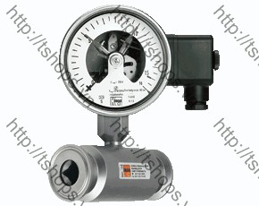 All Stainless Steel Pressure Gauge with In-Line Diaphragm MAN-RF...DRM-502