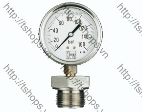 All Stainless Steel Bourbon Tube Pressure Gauge with Mambrane Diaphragm MAN-RD...DRM-600