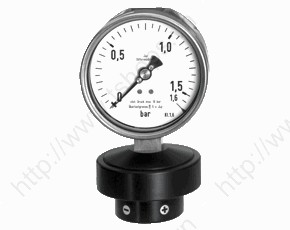 Differential Pressure Gauge with Diaphragm MAN-Dx2A